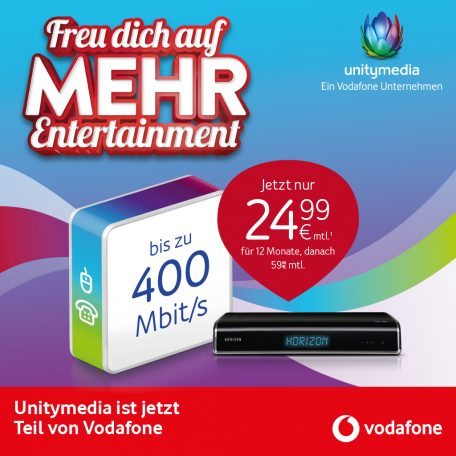Mehr Entertainment bei Unitymedia
