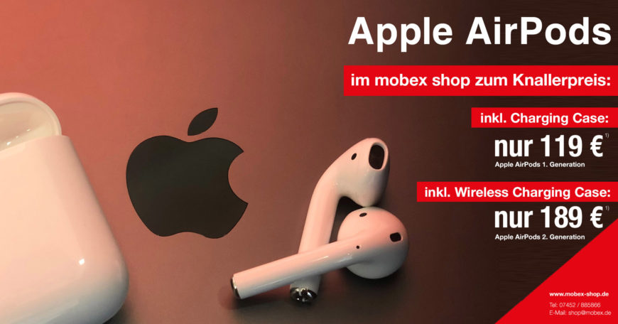 Apple AirPods mit mobex-Knallerpreis